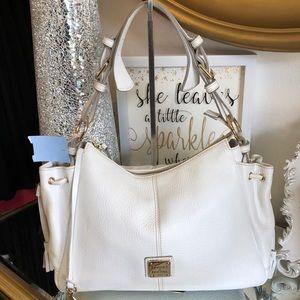 Dooney & Bourke Large White Leather Handbag